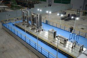 La instalación de soldadura por rayos de electrones en la planta aeronáutica de Kazán, en Tartaristan (Rusia)