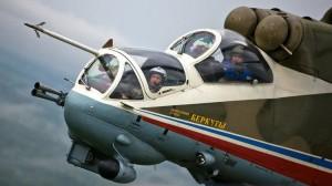 El equipo de acrobacia rusa Berkut