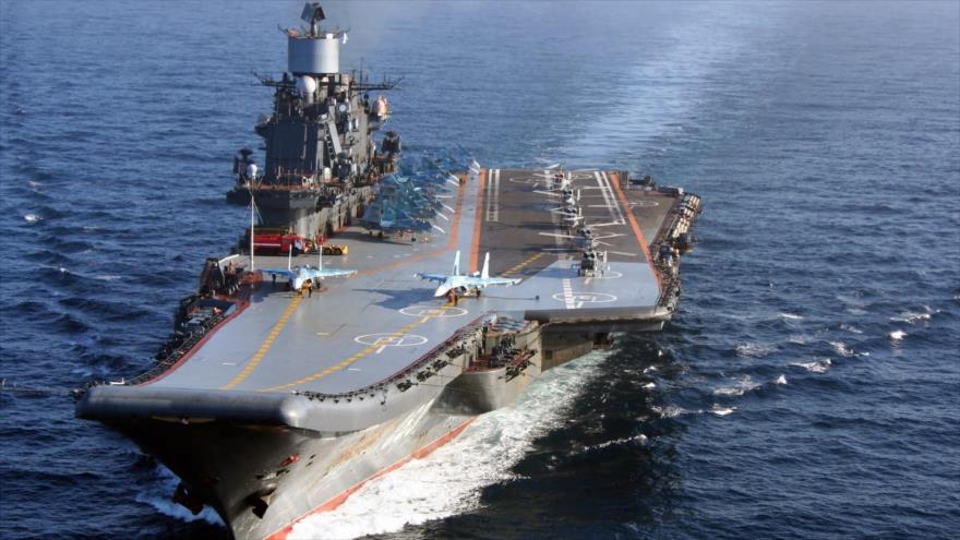 El portaaviones ruso, Admiral Kuznetsov.