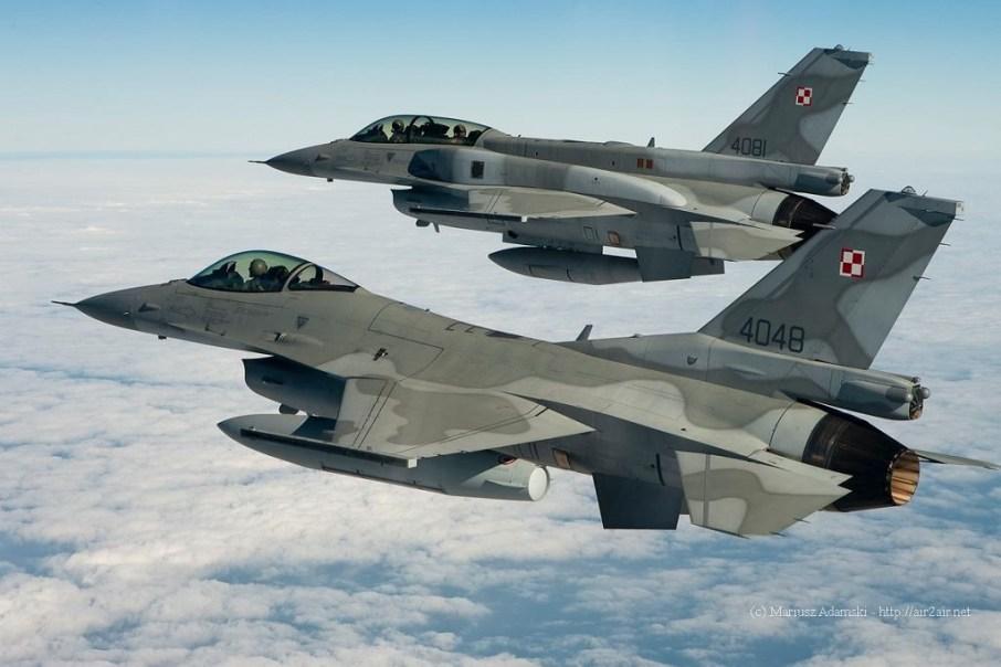 F-16 de la Fuerza Aérea de Polonia