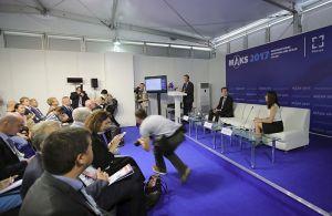 Conferencia de Airbus presentando sus estimaciones del mercado aeronáutico