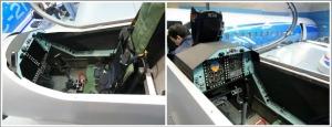 Cabina piloto alumno e instructor del Yak-152
