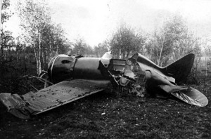 Polikarpov I-180 de Chkálov accidentado