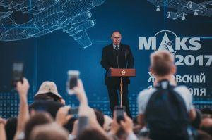 El Presidente Vladimir Putin durante su intervención