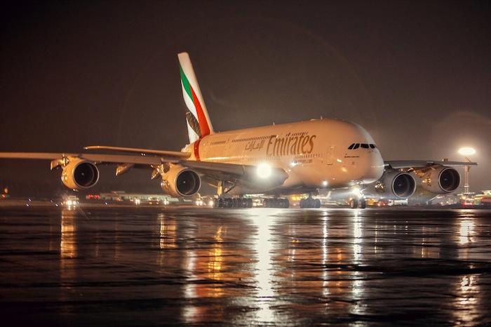 A380 en el aeropuerto Domodedovo de Moscú