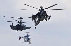 Inicio del show de la mano de Helicópteros de Rusia