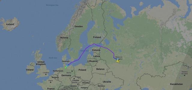 Ruta de vuelo seguida por el avión presidencial